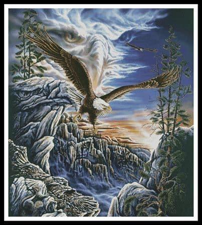 10 Eagles (Cushion) by Artecy printed cross stitch chart